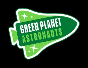Green Planet Astronauts outline logo